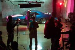 Het ontspruiten video met Chevrolet Camaro SS Stock Foto