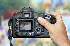 Het ontspruiten met Digitale Camera DSLR Stock Fotografie