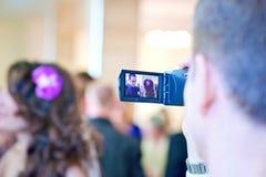Het ontspruiten op videocamera Stock Foto's