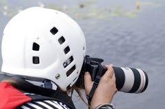 Het ontspruiten van de fotograaf Stock Afbeeldingen
