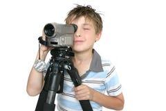 Het ontspruiten video met driepoot stock foto