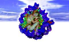 Het ontstaan van DNA Stock Afbeeldingen
