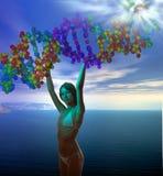Het ontstaan van DNA Stock Afbeelding