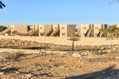 Het Ontstaan van hotelberesheet in Israel Negev Desert royalty-vrije stock afbeelding