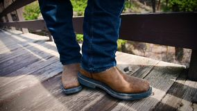 Het onttrekken van Cowboy Boot stock footage