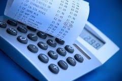 Het ontvangstbewijs van de calculator en van het kasregister royalty-vrije stock foto's