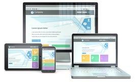 Het ontvankelijke Ontwerp van het Web Royalty-vrije Stock Afbeeldingen