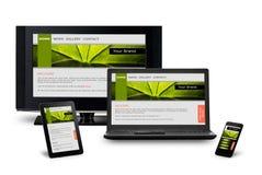 Het ontvankelijke Ontwerp van het Web Stock Afbeelding