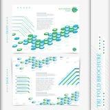 Het ontwerp collectieve zaken van de Trifoldbrochure Royalty-vrije Stock Foto