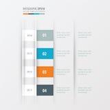 Het ontwerp gele, blauwe, roze kleur van het chronologieontwerp Stock Afbeelding