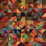 Het ontwerp naadloos patroon van de driehoeksinstallatie Royalty-vrije Stock Foto