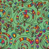 Het ontwerp naadloos patroon van de paddestoelinstallatie royalty-vrije illustratie
