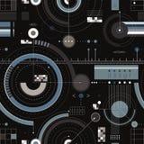 Het ontwerp naadloos patroon van de techniek. Stock Afbeelding