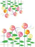 Het ontwerp nam patroon toe Stock Afbeeldingen
