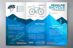 Het ontwerp trifold malplaatje van het brochurepamflet Stock Fotografie