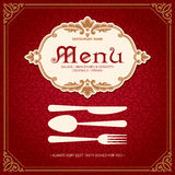 Het Ontwerp Uitstekende Stijl 2 van het restaurantmenu Stock Foto