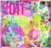 het ontwerp van 2011 grafische samenstelling als achtergrond Vector Illustratie