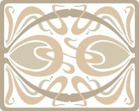 Het ontwerp van art decotracery in pastelkleuren royalty-vrije stock afbeelding