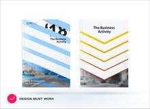 Het ontwerp van bedrijfs vectormalplaatje, brochure, vat jaarverslag samen, Stock Foto