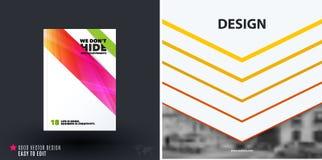 Het ontwerp van bedrijfs vectormalplaatje, brochure, vat jaarverslag samen, Royalty-vrije Stock Fotografie