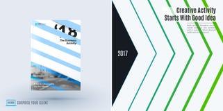 Het ontwerp van bedrijfs vectormalplaatje, brochure, vat jaarverslag samen, Stock Afbeeldingen