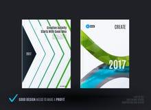 Het ontwerp van bedrijfs vectormalplaatje, brochure, vat jaarverslag samen, Royalty-vrije Stock Afbeelding