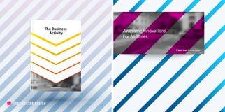 Het ontwerp van bedrijfs vectormalplaatje, brochure, vat jaarverslag samen, Stock Afbeelding