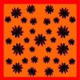 Het ontwerp van het bloempatroon Stock Afbeeldingen