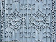 het ontwerp van het bloempatroon van legering of metaalpoort royalty-vrije stock foto