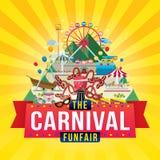 Het ontwerp van Carnaval funfair stock illustratie