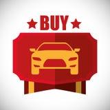 Het ontwerp van de autoverkoop Royalty-vrije Stock Afbeeldingen