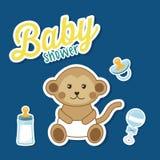 Het ontwerp van de babydouche Stock Afbeeldingen