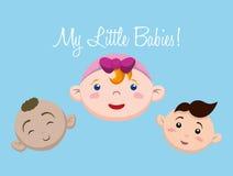 Het ontwerp van de babydouche Royalty-vrije Stock Afbeelding