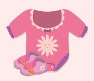 Het ontwerp van de babydouche Stock Foto's