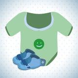 Het ontwerp van de babydouche Stock Foto