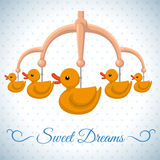 Het ontwerp van de babydouche Royalty-vrije Stock Foto