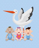 Het ontwerp van de babydouche Stock Fotografie