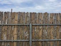 Het ontwerp van de bamboeomheining de bouwlevensstijl Royalty-vrije Stock Fotografie