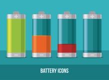 Het ontwerp van de batterijenergie Stock Afbeeldingen