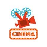 Het ontwerp van de bioskoopfilm Stock Foto's