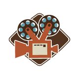 Het ontwerp van de bioskoopfilm Royalty-vrije Stock Foto