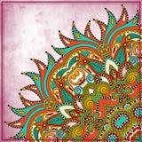 Het ontwerp van de bloemcirkel op grungeachtergrond Royalty-vrije Stock Afbeeldingen