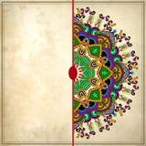 Het ontwerp van de bloemcirkel op grungeachtergrond met Stock Afbeeldingen