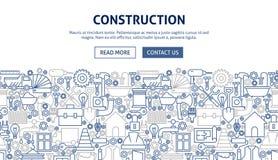 Het Ontwerp van de bouwbanner Stock Foto