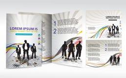 Het ontwerp van de brochure royalty-vrije illustratie