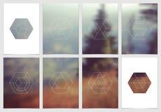 A4 het ontwerp van de brochuredekking met geometrische vormen en maskers in moderne minimalistic stijl Creatief jaarlijks vlieger Royalty-vrije Stock Afbeeldingen