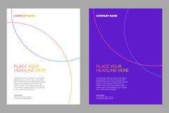 Het ontwerp van de brochurelay-out royalty-vrije illustratie