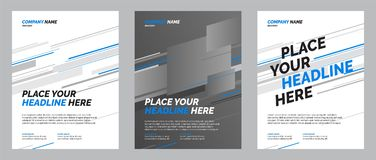 Het ontwerp van de brochurelay-out stock illustratie