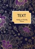 Het ontwerp van de brochurelay-out De samenstelling van de bloem royalty-vrije illustratie