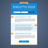 Het ontwerp van de bulletinpagina vector illustratie